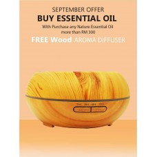 FREE Wood Aroma Diffuser   --  ( 5ml Essential oil )