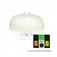 Glass Aroma Diffuser Foc one set 3 bottles 15ml essential oil